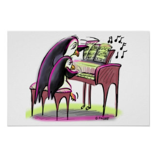 pIaNo pEnGuInS Posters