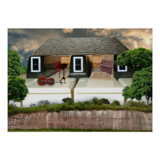 Piano Penthouse Sunset Posters