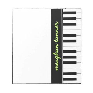 Piano personalizado blocs de notas