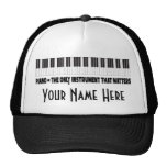 Piano Personalized Funny Music Quote Hat