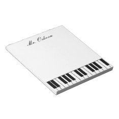 Piano Personalized Notepad at Zazzle