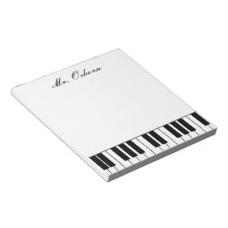 Piano Personalized Notepad