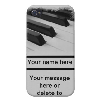 piano pianist musician key customize your own name iPhone 4/4S case