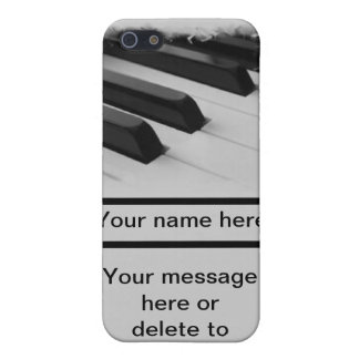 piano pianist musician key customize your own name iPhone SE/5/5s case