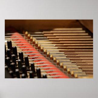 Piano Pinblock del vintage e impresión de las secu Impresiones