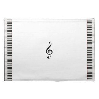 Piano Placemat con G Cleff Manteles Individuales