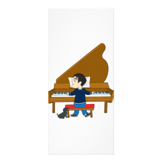 Piano Player and Dog Rack Card