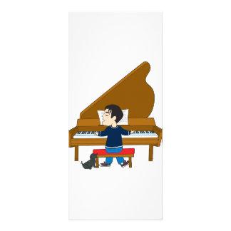 Piano Player and Dog Custom Rack Card