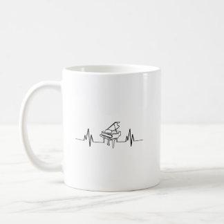 Piano Player Heartbeat Funny Coffee Mug