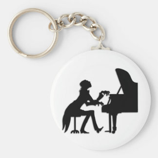 Piano Player Key Chain