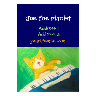 piano player, music lover large business cards (Pack of 100)
