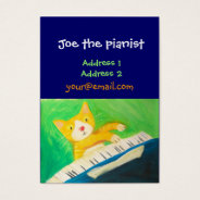 Piano Player, Music Lover Business Card at Zazzle