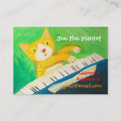 piano player music lover business card