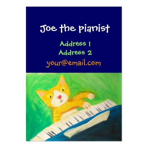 piano player, music lover business card template
