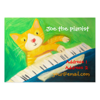 piano player, music lover large business card