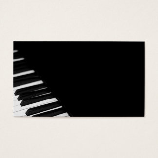 Piano Player/ Piano Tuner Business Card
