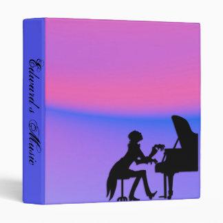 Piano Player Purple Personal Music Binder