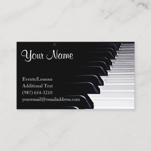Piano Player _ Teacher _Songwriter _ Band Business Card