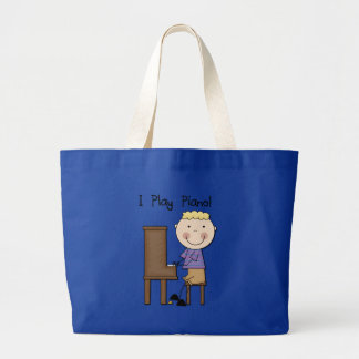 Piano Player Tshirts and Gifts Large Tote Bag