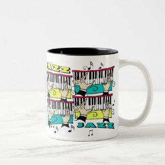 PIANO PLAYER Two-Tone COFFEE MUG