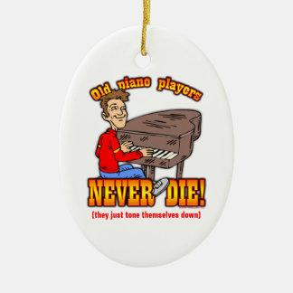 Piano Players Ceramic Ornament