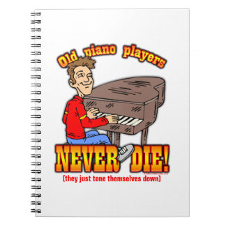 Piano Players Spiral Notebook