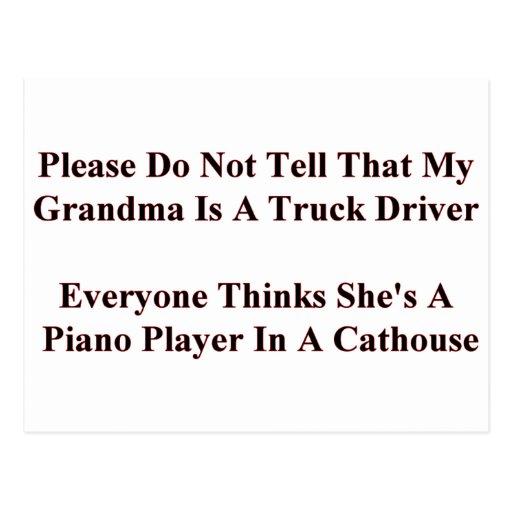 Piano Playing Grandma Postcards