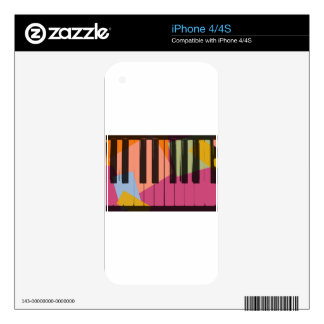 Piano Pop Art iPhone 4 Decal