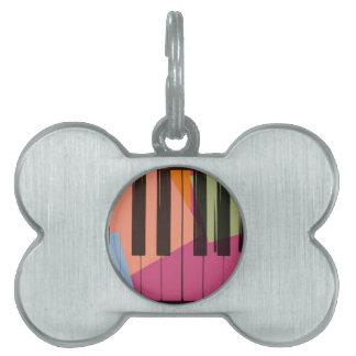 Piano Pop Art Pet Tags