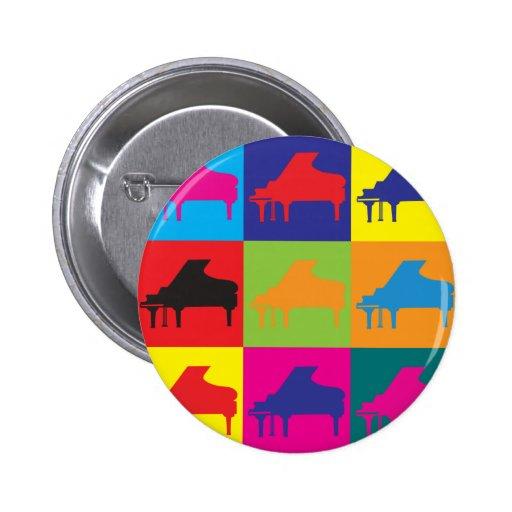 Piano Pop Art Pin