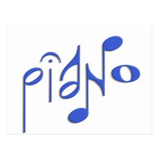 piano postcard
