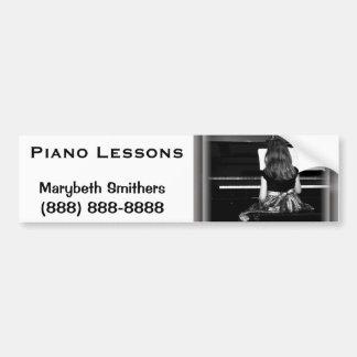 Piano Practice. Black and White Photograph Car Bumper Sticker