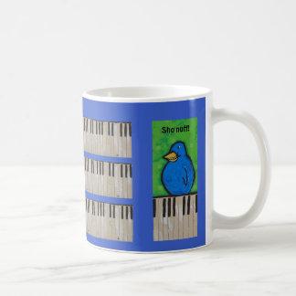 Piano practicing funny mug