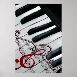 Piano precioso póster