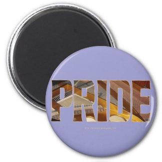 Piano Pride 2 2 Inch Round Magnet