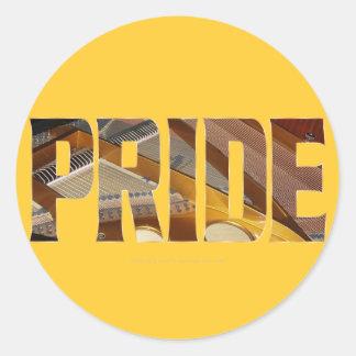 Piano Pride 2 Classic Round Sticker