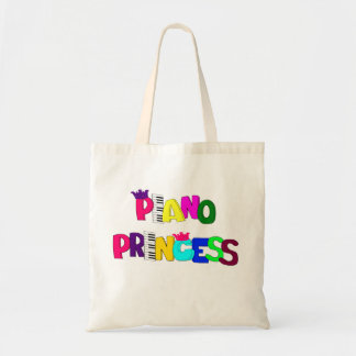 Piano Princess Budget Tote Bag