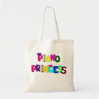 Piano Princess Canvas Bag