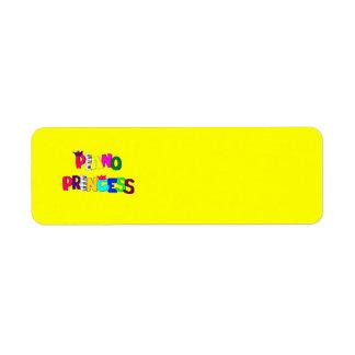 Piano Princess Label