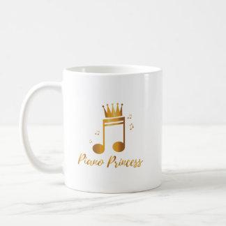 Piano Princess Music Gif Kids Girls Women Coffee Mug