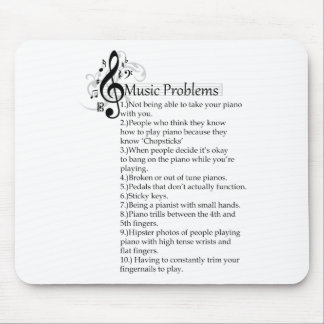 Piano Problems List Mouse Pad