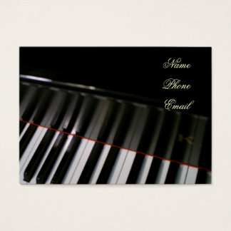 Piano Profile Card by Leslie Harlow