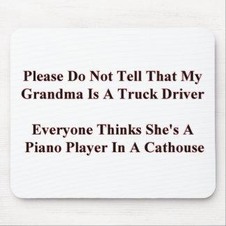 Piano que juega a la abuela alfombrilla de raton