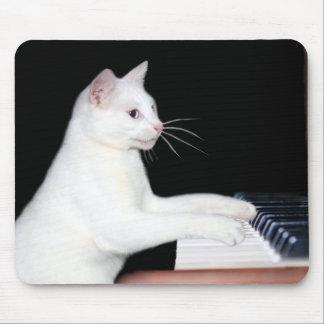 Piano que juega el gato alfombrillas de ratones