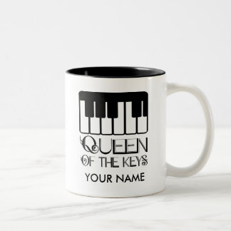 Piano Queen of the Keys Personalized Gift Mug
