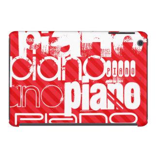 Piano; Rayas del rojo del escarlata Fundas De iPad Mini