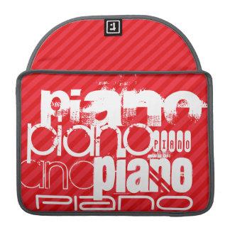 Piano; Rayas del rojo del escarlata Fundas Para Macbook Pro