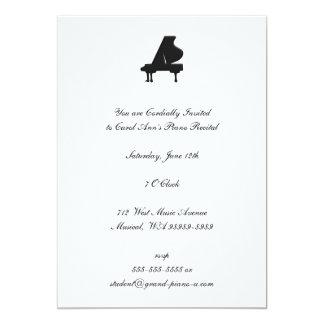 Piano Recital 5x7 Paper Invitation Card