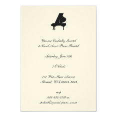 Piano Recital Card at Zazzle