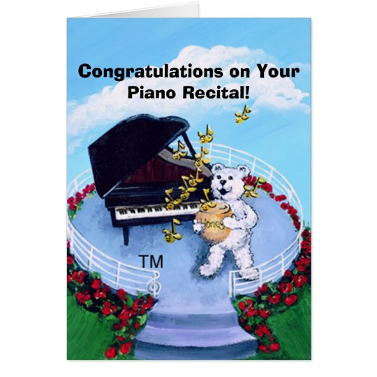 Piano Recital Card for Piano Students